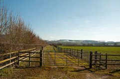 Winter agricultural scene in the British countryside. A winter scene in the English countryside Stock Photography