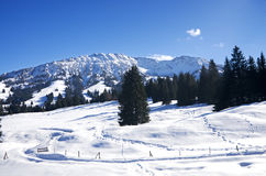Winter in Allgau. Oberjoch and Bad Hindelang, Germany Royalty Free Stock Images