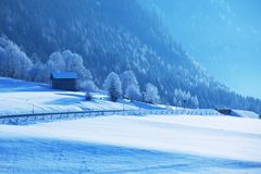 Winter in Alp mountains Stock Photography
