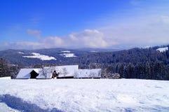 Winter in alp mountains austria Stock Photos