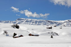 Winter on the Alpe di Siusi, Dolomites, South Tyrol, Italy Stock Images