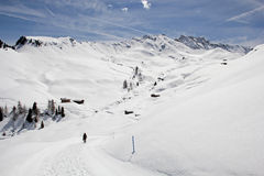 Winter on the Alpe di Siusi, Dolomites, South Tyrol, Italy Royalty Free Stock Image