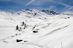 Winter on the Alpe di Siusi, Dolomites, South Tyrol, Italy Stock Photo