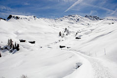 Winter on the Alpe di Siusi, Dolomites, South Tyrol, Italy Royalty Free Stock Images