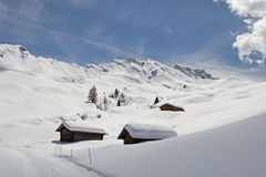 Winter on the Alpe di Siusi, Dolomites, South Tyrol, Italy Royalty Free Stock Photo