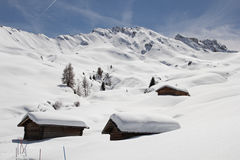 Winter on the Alpe di Siusi, Dolomites, South Tyrol, Italy Royalty Free Stock Photos