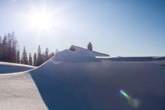 Winter-Alpen Stockfotografie