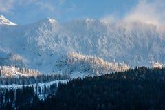 Winter-Alpen Stockfotos