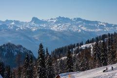 Winter-Alpen Stockfoto