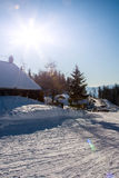 Winter-Alpen Lizenzfreie Stockfotos