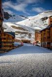 Winter-Alpenlandschaft von Val Thorens stockfotografie