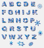 Winter alphabet Stock Images
