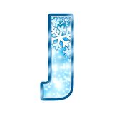 Winter Alphabet letter J Stock Images