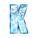 Winter Alphabet letter K Stock Photos