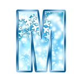 Winter Alphabet letter M Royalty Free Stock Photo