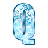 Winter Alphabet letter Q Stock Images