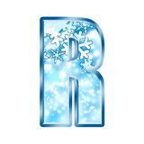 Winter Alphabet letter R Stock Image