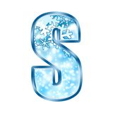 Winter Alphabet letter S Stock Image