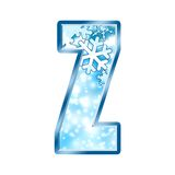 Winter Alphabet letter Z Royalty Free Stock Image