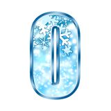 Winter Alphabet Number 0 zero Royalty Free Stock Photos