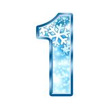 Winter Alphabet Number 1 one Royalty Free Stock Image