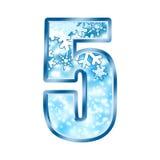 Winter Alphabet Number 5 five stock illustration