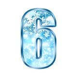 Winter Alphabet Number 6 six Stock Photography