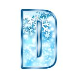 Winter Alphabet Number D Stock Photo