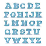 Winter alphabet with snow cap effect. Stock Images