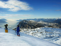 Winter alpin lizenzfreie stockfotos