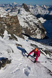 Winter alpine climbing Royalty Free Stock Photography