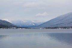 Winter Alpine Lake Stock Photography