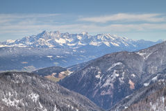 Winter alpine landscape Stock Image