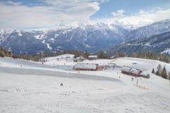 Winter alpine landscape Stock Photos