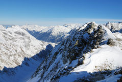Winter Alpine mountains royalty free stock photo