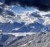 Winter alpine mountains Stock Images