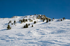Winter Alpine scenery Stock Photo
