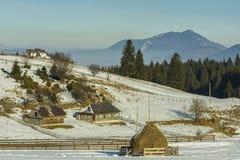 Winter alpine scenery in Fundata, Brasov, Romania Stock Photography