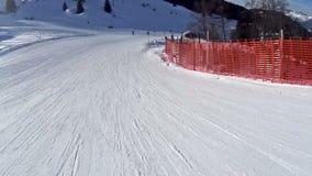 Winter Alpine Ski Resort stock footage