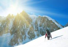 Winter alpine trekking Stock Photography