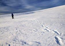 Winter alpine trekking Stock Photo