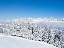 Winter in alps Stock Images