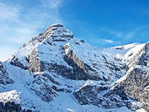 Winter in the alps Stock Photos