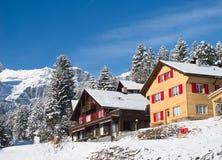Winter in alps Stock Photos