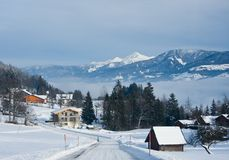 Winter in the alps. Austria Royalty Free Stock Photography
