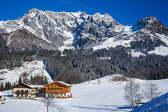 Winter in the Alps Stock Photography