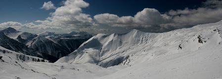 The Winter Alps in France Royalty Free Stock Images