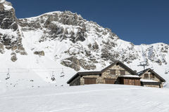 Winter in the alps Stock Image