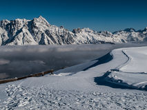 Winter Alps. Inversion in winter austrian Alps Royalty Free Stock Images