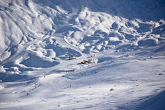 Winter Alps landscape Stock Photo